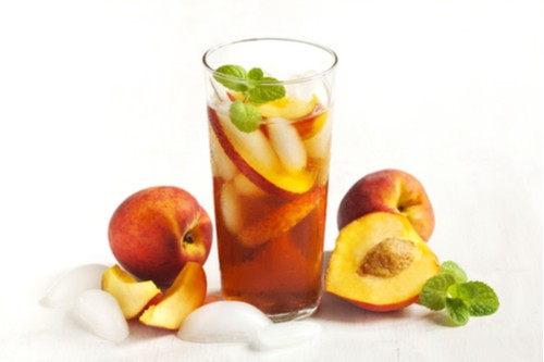 Peach Mint Iced Green Tea